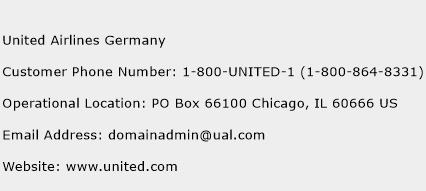 United Airlines Germany Phone Number Customer Service