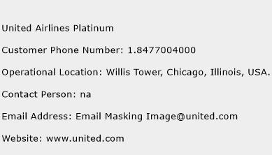 United Airlines Platinum Phone Number Customer Service