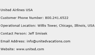 United Airlines USA Phone Number Customer Service