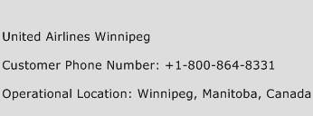United Airlines Winnipeg Phone Number Customer Service