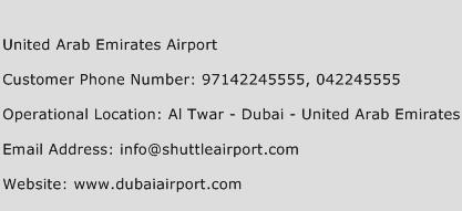 United Arab Emirates Airport Phone Number Customer Service