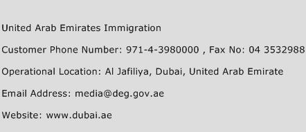united arab emirates immigration customer service number. Black Bedroom Furniture Sets. Home Design Ideas