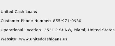 United Cash Loans Phone Number Customer Service