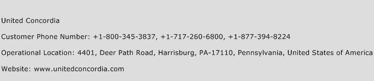 United Concordia Phone Number Customer Service