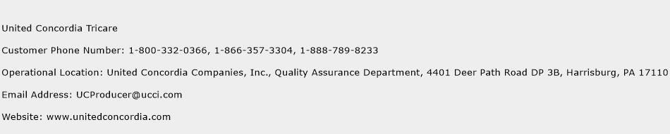 click here to view united concordia tricare customer service phone numbers
