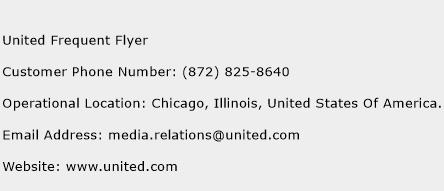 United Frequent Flyer Phone Number Customer Service