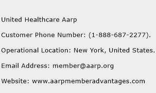 United Healthcare Aarp Phone Number Customer Service