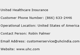 United Healthcare Insurance Customer Service Number | Toll Free ...