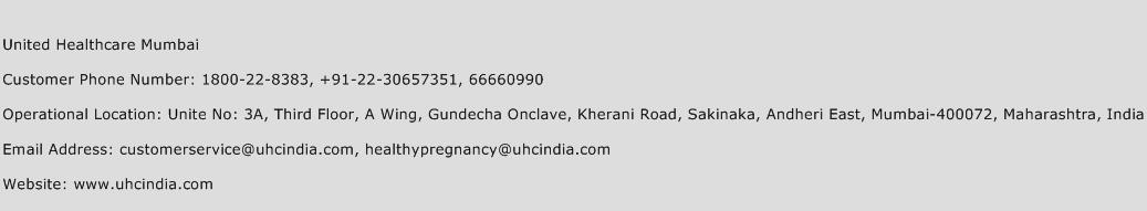 United Healthcare Mumbai Phone Number Customer Service