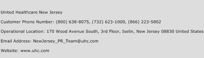 United Healthcare New Jersey Customer Service Phone Number | (Toll ...