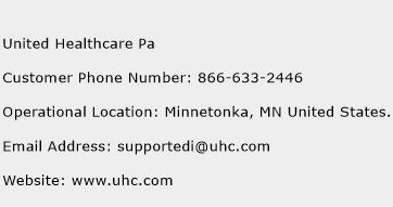 United Healthcare Pa Phone Number Customer Service