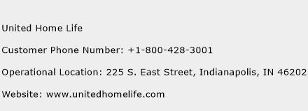 United Home Life Phone Number Customer Service