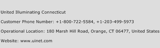 United Illuminating Connecticut Phone Number Customer Service