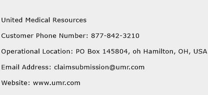 United Medical Resources Phone Number Customer Service