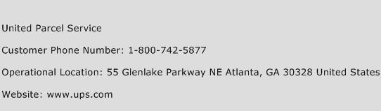 United Parcel Service Phone Number Customer Service