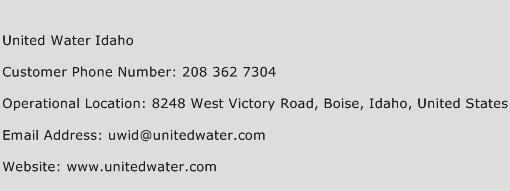 United Water Idaho Phone Number Customer Service