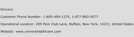 Univera Phone Number Customer Service