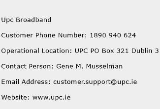 Upc Broadband Phone Number Customer Service