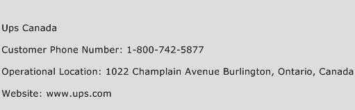Ups Canada Phone Number Customer Service