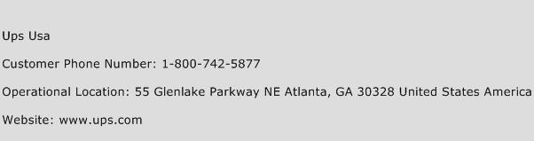 Ups Usa Phone Number Customer Service