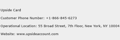 Upside Card Phone Number Customer Service