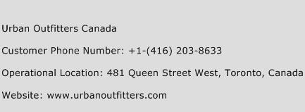 Urban Outfitters Canada Phone Number Customer Service