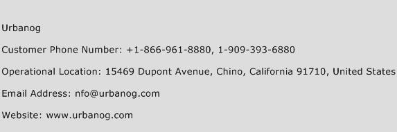 Urbanog Phone Number Customer Service