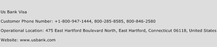 Us Bank Visa Phone Number Customer Service
