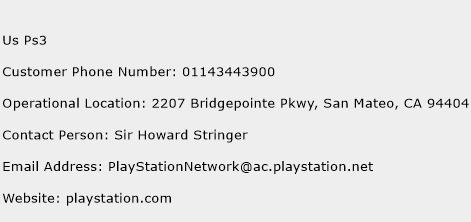 Us Ps3 Phone Number Customer Service