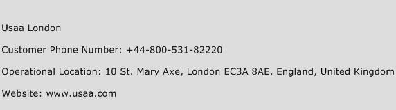 Usaa London Phone Number Customer Service