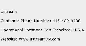 Ustream Phone Number Customer Service
