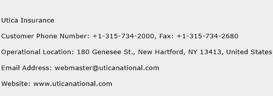 Utica Insurance Phone Number Customer Service