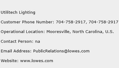Utilitech Lighting Phone Number Customer Service