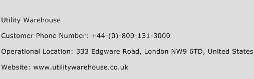 Utility Warehouse Phone Number Customer Service