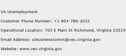 VA Unemployment Phone Number Customer Service