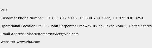VHA Phone Number Customer Service