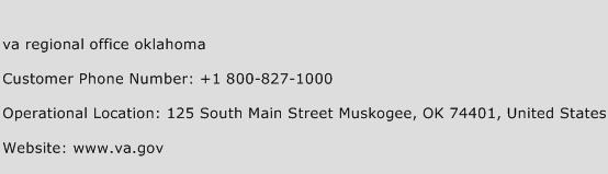 Va Regional Office Oklahoma Phone Number Customer Service