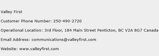 Valley First Phone Number Customer Service