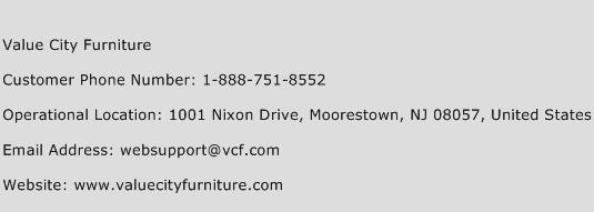 Click Here To View Value City Furniture Customer Service Phone Numbers