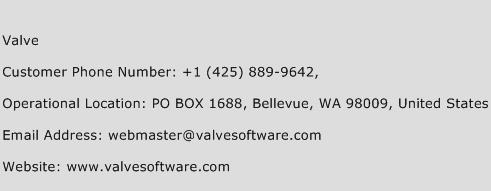 Valve Phone Number Customer Service