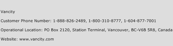 Vancity Phone Number Customer Service