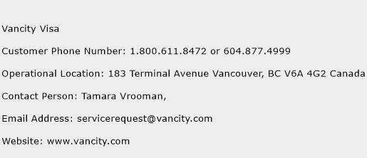 Click Here To View Vancity Visa Customer Service Phone Numbers