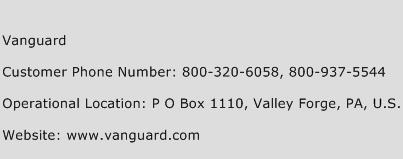 Vanguard Phone Number Customer Service