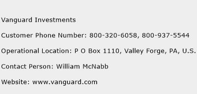 Vanguard Investments Phone Number Customer Service