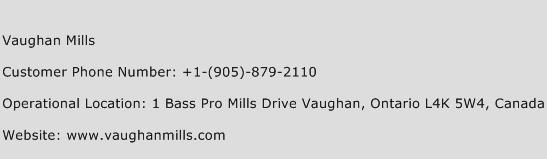 Vaughan Mills Phone Number Customer Service