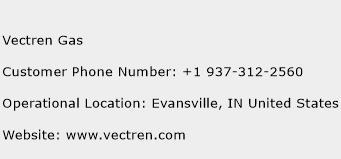 Vectren Gas Phone Number Customer Service