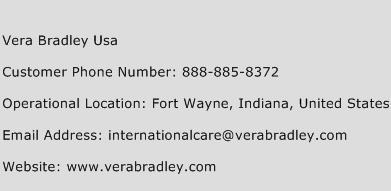 vera bradley customer service