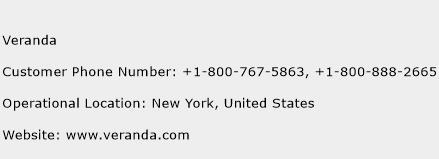 Veranda Phone Number Customer Service