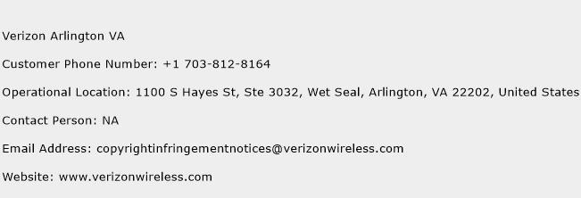 Verizon Arlington VA Phone Number Customer Service