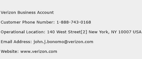 Verizon Business Account Phone Number Customer Service
